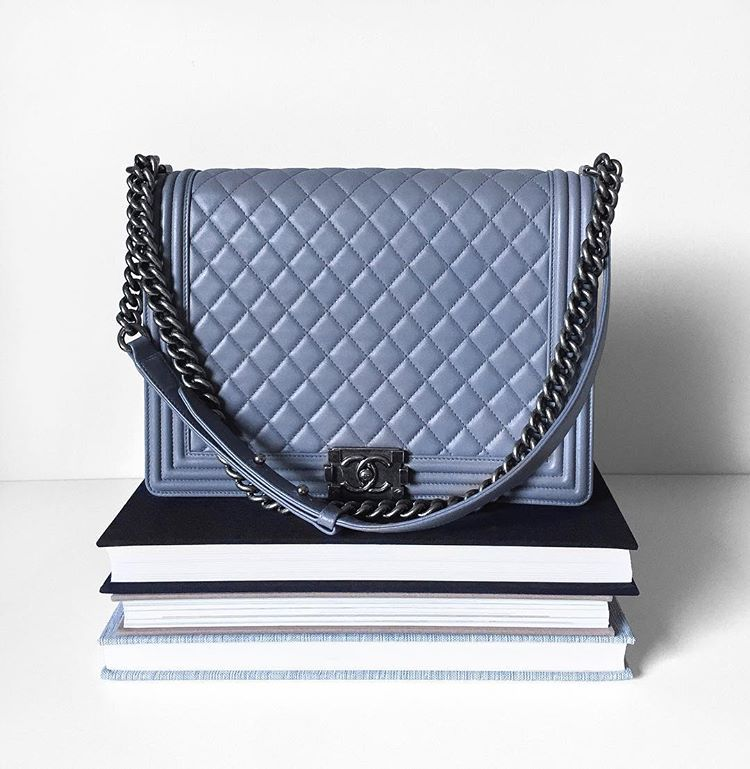 f24b4a9448f16f Inspired by menswear, the Boy Bag joined Chanel's lineup of flap bags in  2012. It is recognizable by its chunky hardware and boxy…