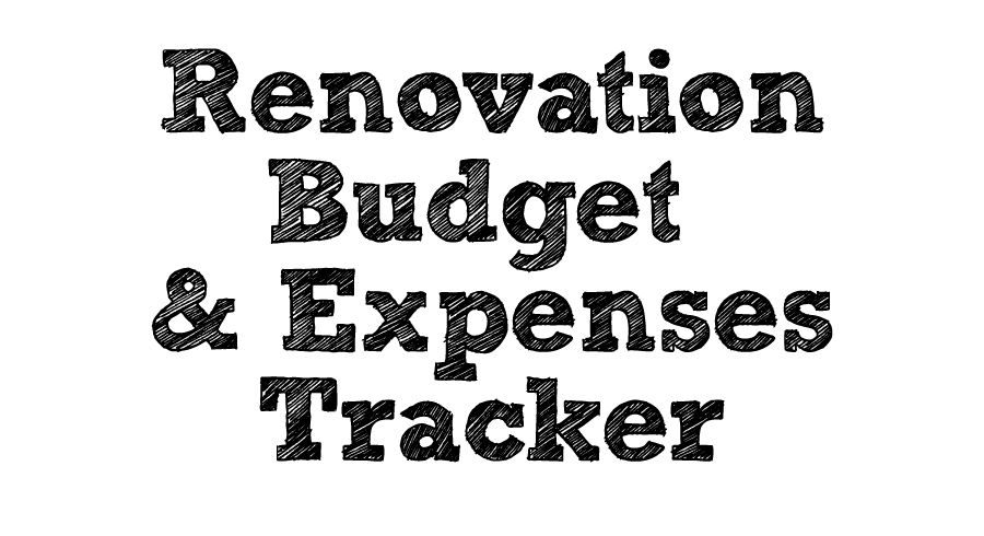 Renovation Budget  Expenses Tracker Home Reno Pinterest