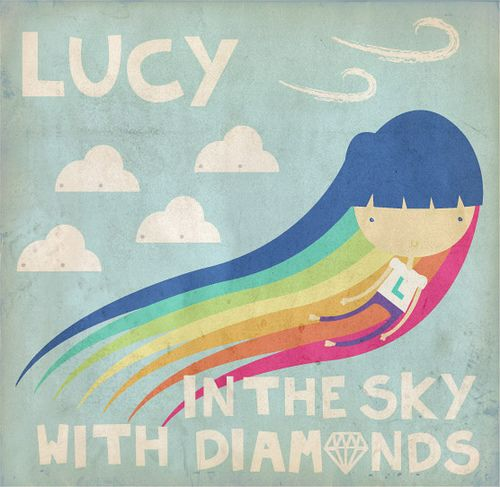 Cellophane flowers of yellow and green lucy in the sky with diamonds i need this for my lucy mightylinksfo