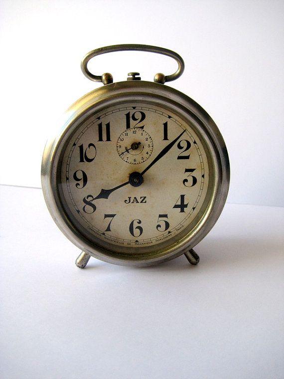 Jaz Alarm Clock Art Deco French Clock Vintage Item 1930s Clock