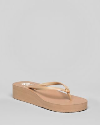 d91059f45 TORY BURCH Thin Wedge Logo Flip Flops.  toryburch  shoes  sandals ...