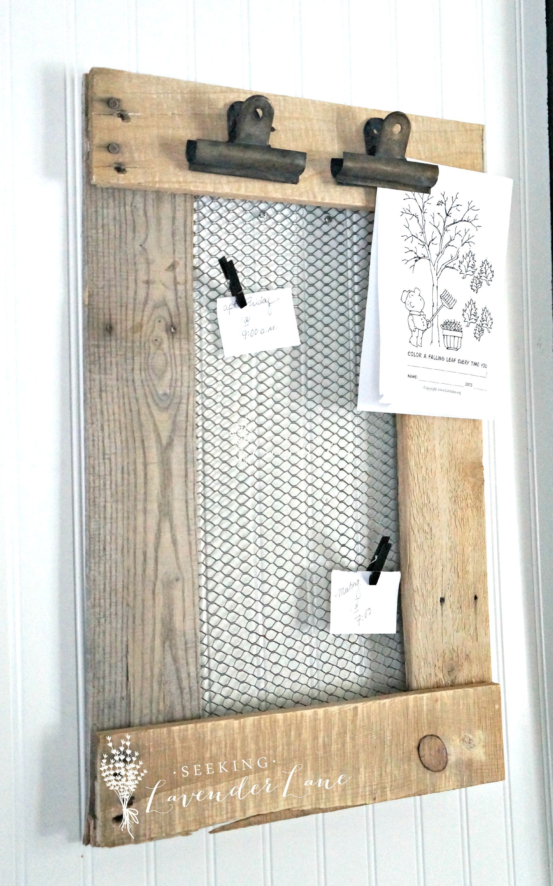 DIY Farmhouse Message Board | Message board, Messages and Board