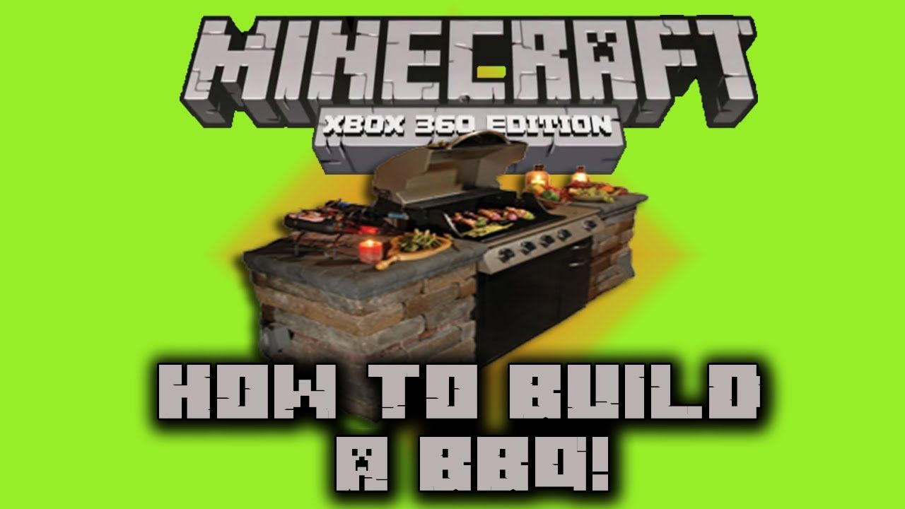 minecraft xbox 360 build tutorial 1 bbq grill how to gaming