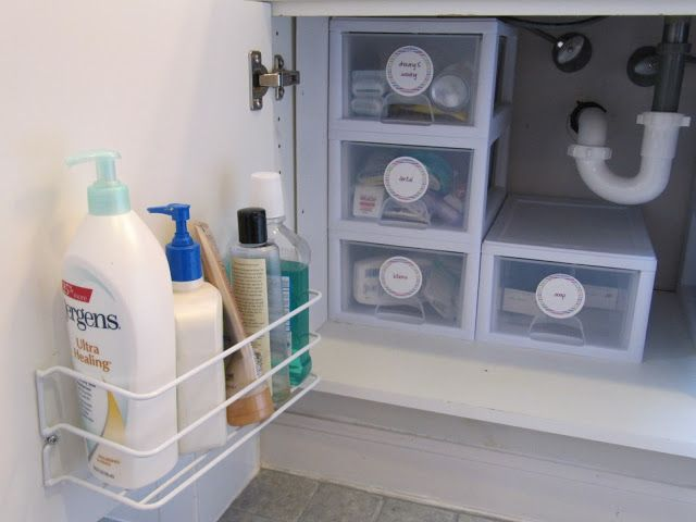 Making The Most Of Under Your Bathroom Sink I Have 2 Of These I Need A Couple More Bathroom Organisation Home Organization Under Sink Storage