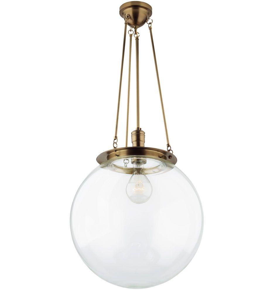 Superior Hood Classic Globe Pendant A1445 Awesome Design