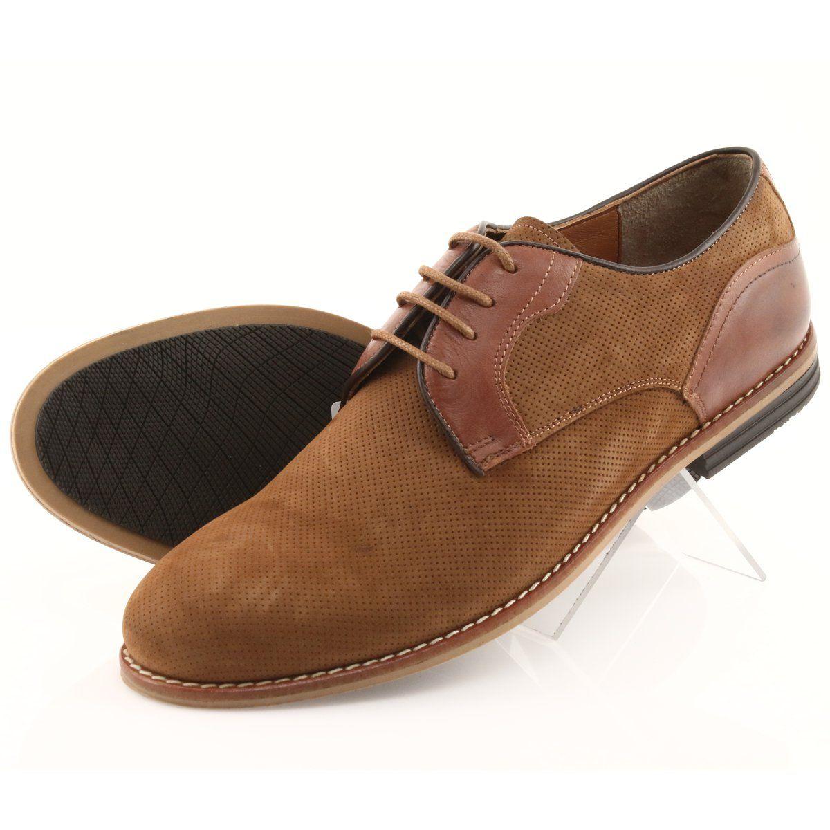 Polbuty Meskie Badura 3687 Brazowe Dress Shoes Men Dress Shoes Oxford Shoes