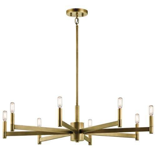Kichler Dining Room Lighting Pleasing Kichler Erzo 8 Light 1 Tier Chandelier  Natural Brass Decorating Design