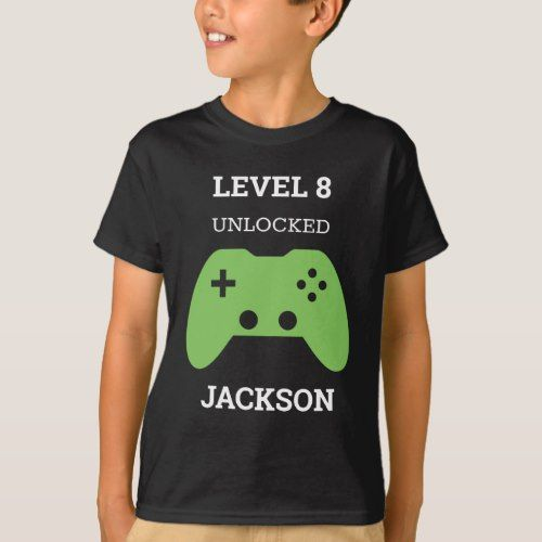 Level Up Gamer Video Game Controller Birthday Kids TShirt   Zazzle com - Video games birthday party, Xbox birthday party, Kids party games, Birthday boy shirts, Video games birthday, Birthday party shirt - Level Up Gamer Green Video Game Controller Birthday Kids Tshirt  Infant, toddler, child and adult sizes  Level up with this birthday shirt  Add name and age  www SamAnnDesigns com