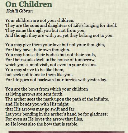 Prophet Kahlil Gibran On Children Kahlil Gibran On