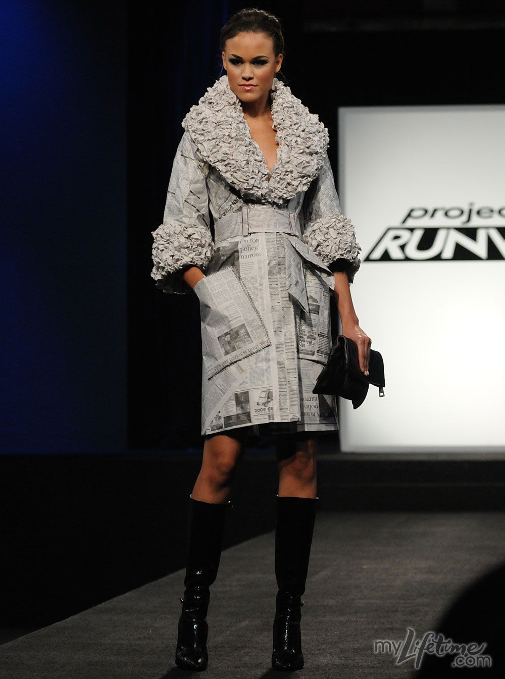 Image result for project runway newspaper dress