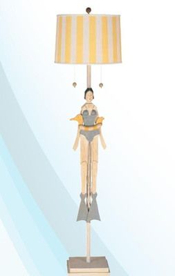 Girl Swimmer Floor Lamp