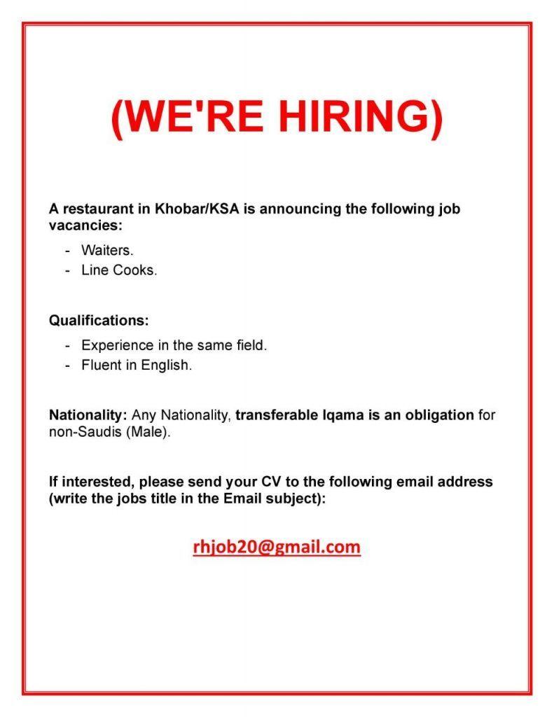 Multiple Openings Ksa Fluent English Job Job Title
