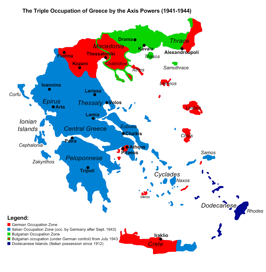 Occupation of Greece during World War 2   Maps - They tell the story ...