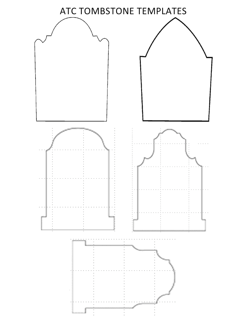 photograph relating to Tombstone Printable titled Gravestone Template Printable Tombstone Blank Templates