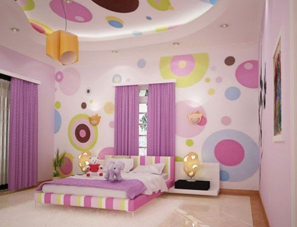 vivacious little girl bedroom ideas; pink and purple: girl bedroom