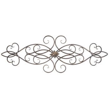 Scroll Metal Wall Decor With Medallion Metal Wall Decor