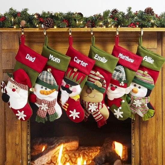 2014 Personalized Christmas Stockings Etsy Online Decoracion Escaleras Navidad Interiores Navidad Bota De Navidad Fieltro