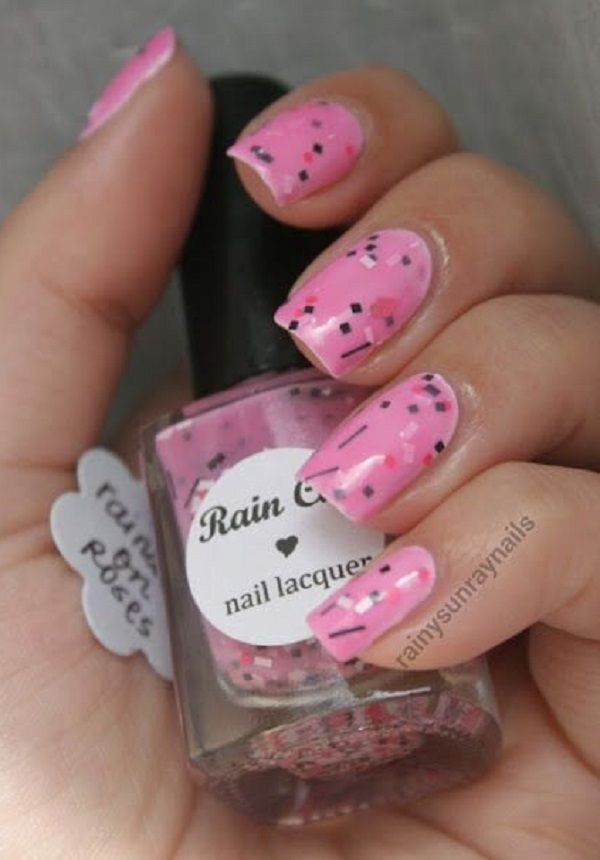 65 lovely Pink Nail Art Ideas | Pink nails, Sprinkle nails and Gel ...