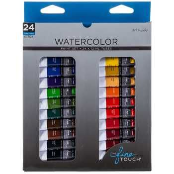 Watercolor Paints 24 Piece Set Gouache Paint Set Watercolor