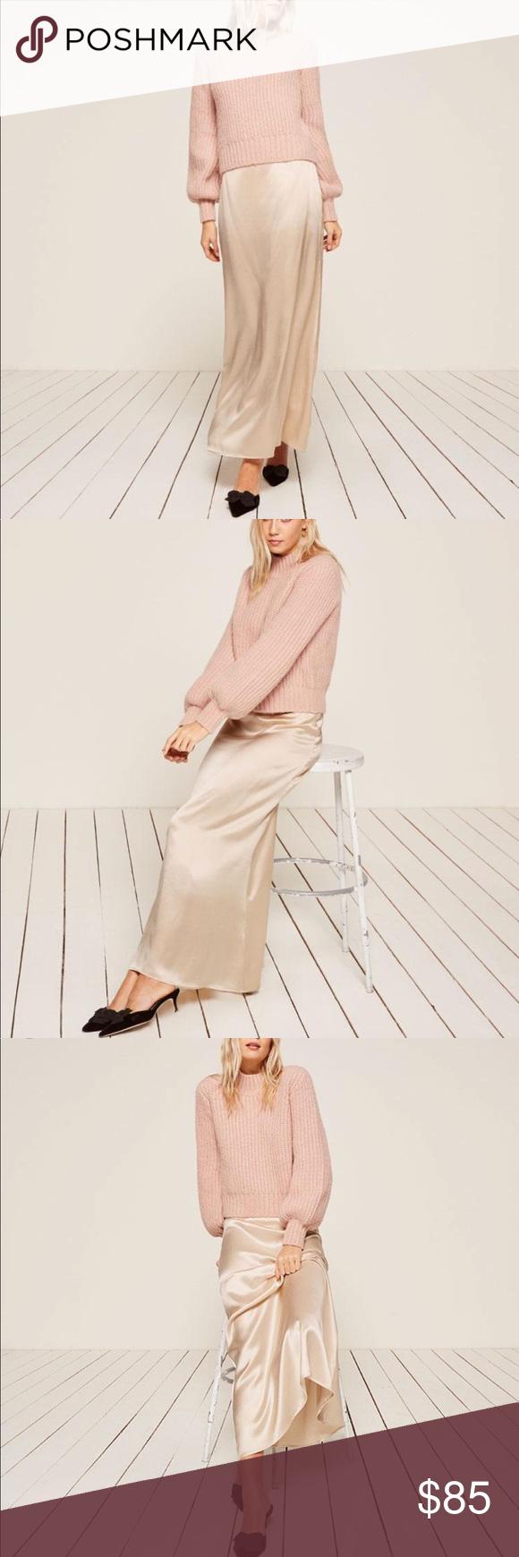 Reformation Gianna Skirt Blush sz 4/Small | Clothes design