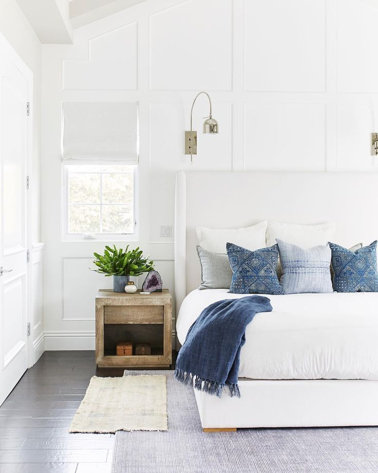 5 Bedroom Ideas For Autumn From The White Company: Cottage Style Bedroom Decor, Blue And White Bedroom Decor