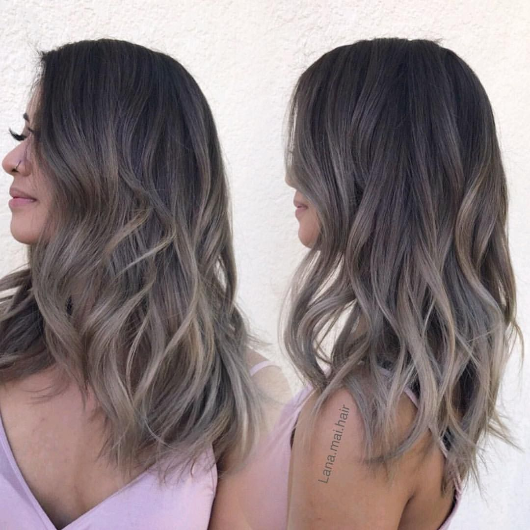 For Who Want A Nice Ash Tone But Still Want To Keep There Dark Natural Root Color Res Brown Hair Balayage Ash Blonde Hair Colour Ash Brown Hair Color