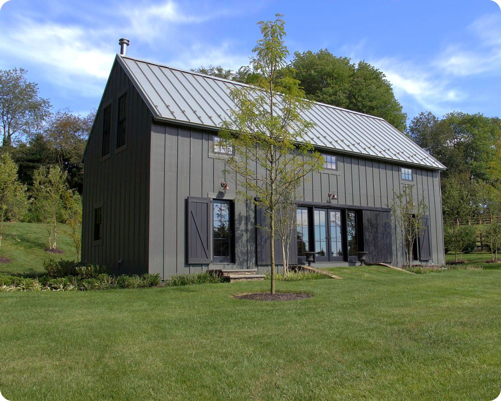 Iron gray hardie plank main house exterior pinterest for Barn style metal building homes