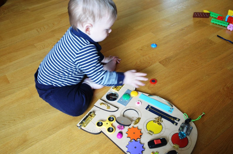 READY TO SHIP !!! Rocket Busy Board Travel toy Sensory for ...