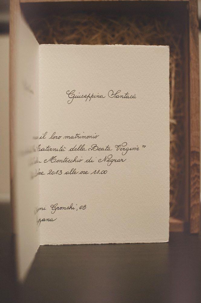 Partecipazioni Matrimonio Carta Amalfi.Invito Partecipazioni Nozze Scrittura A Mano Carta A Mano
