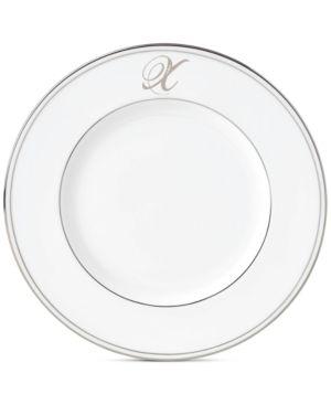 Lenox Federal Platinum Monogram Script Accent Plate - White