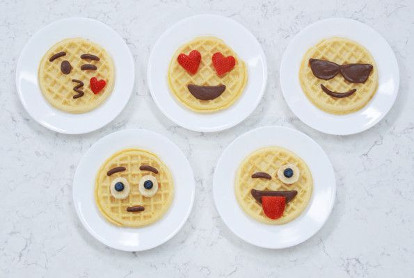 Express Yourself At Breakfast With These Emoji Waffles Waffles Emoji Food Food