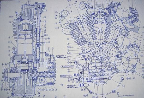 Knucklehead harley engine drawing blueprint motorcycles knucklehead harley engine drawing blueprint motorcycle enginemotorcycle artvintage motorcyclescustom malvernweather