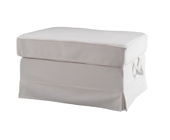 2 White Ikea Rp Ottomans For Foot Of Bed And Storage