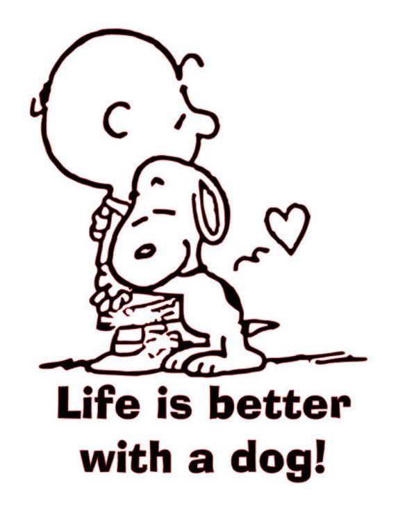 fbd42c5955 Charlie Brown Life is better with a dog! SVG File