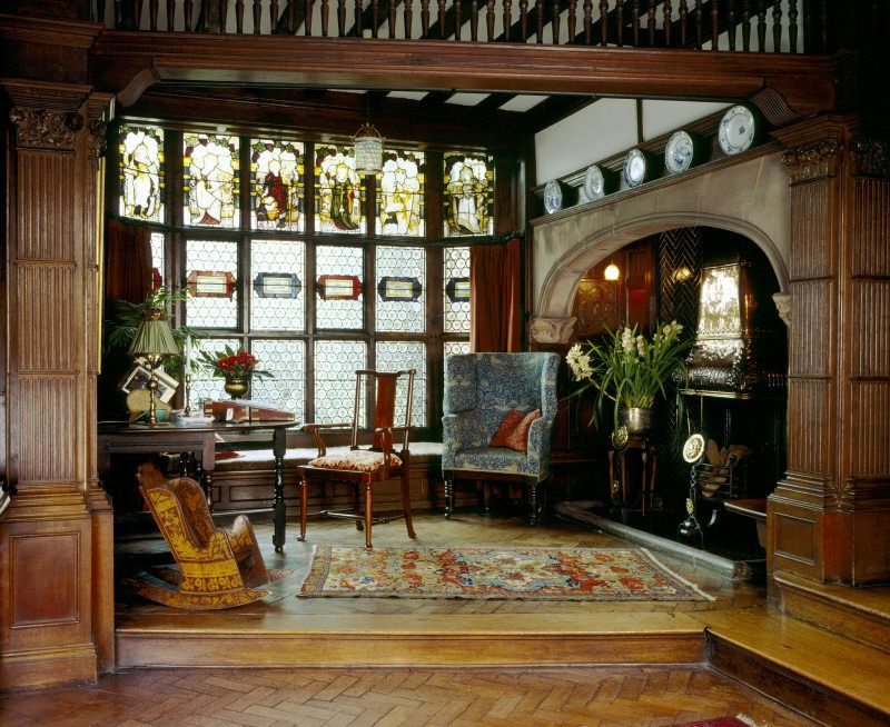 Hall alcove in an English manor house. WOW....everything about it is ...