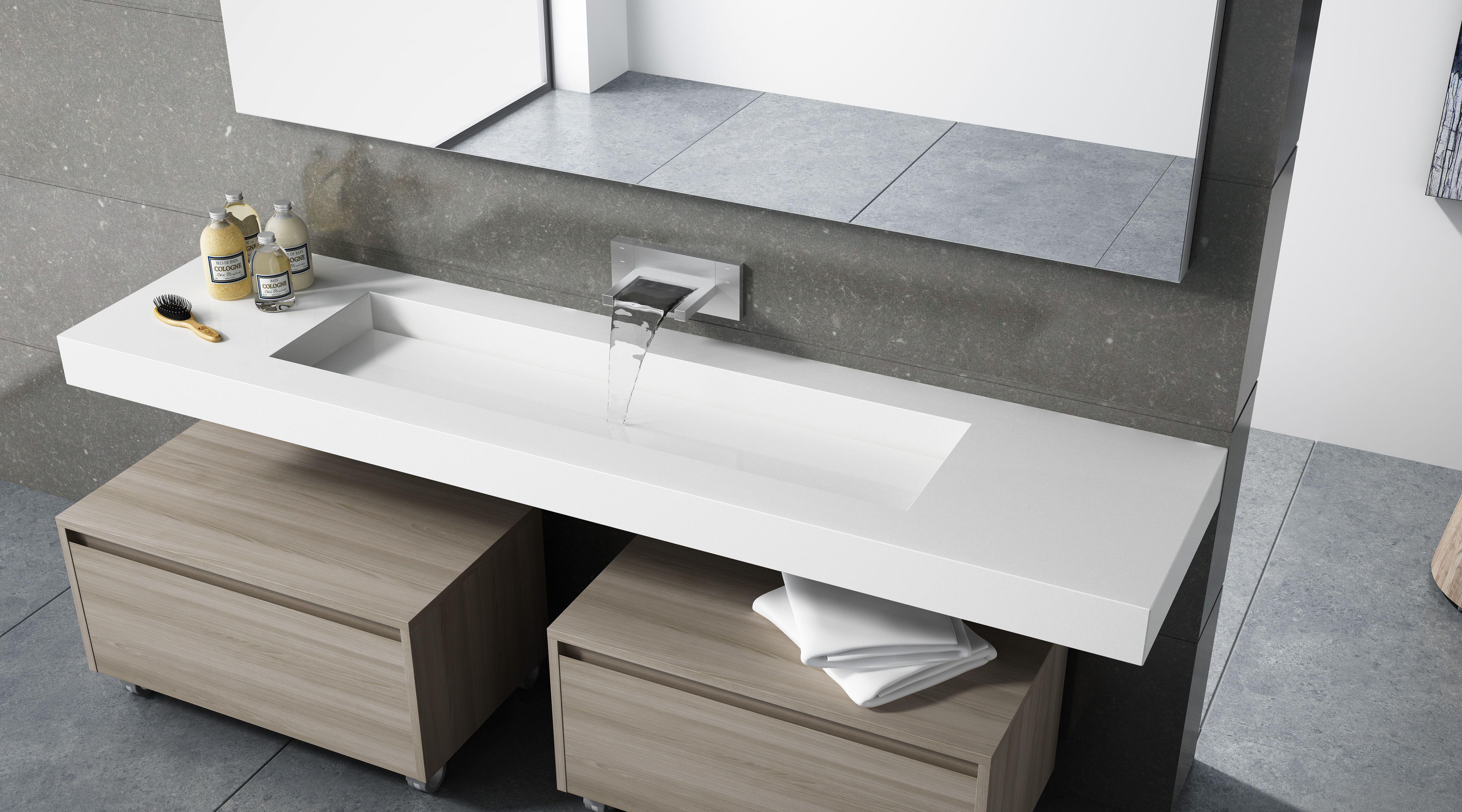 encimera lavabo integrado lavabo de diseo diseo lavabos moedrnos cuadrados encimera baos