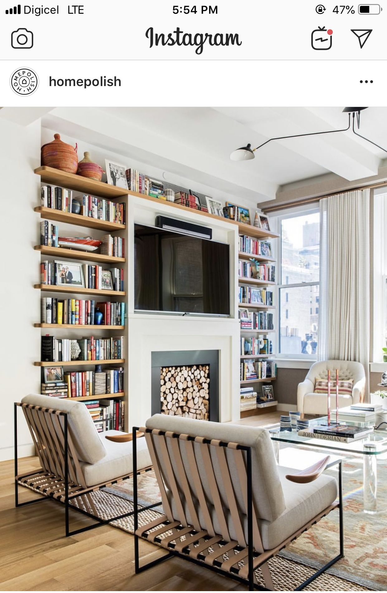 Living Room Library Design Ideas: Pin By Katie Britten On Brooklyn Apt