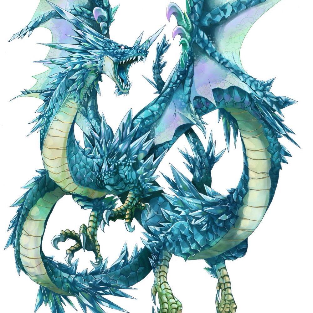 Blue ice dragon Anime & Cartoon clips Pinterest Ice