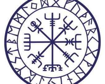 viking protection runes vegvisir compass talisman red