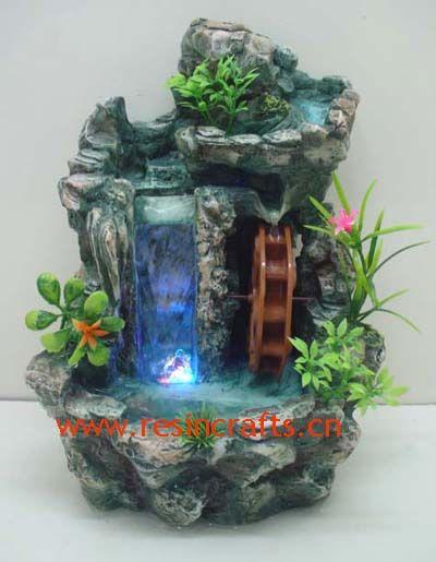 Waterfall And Water Wheel Fairy Garden Miniature