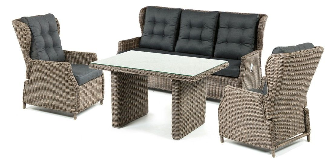 ibiza 4 piece recline lounge setting