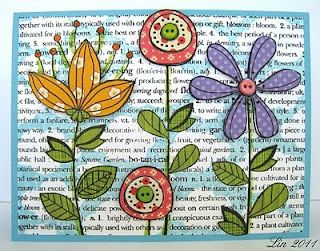 Happy Flowers Card by Lin Brandyberry