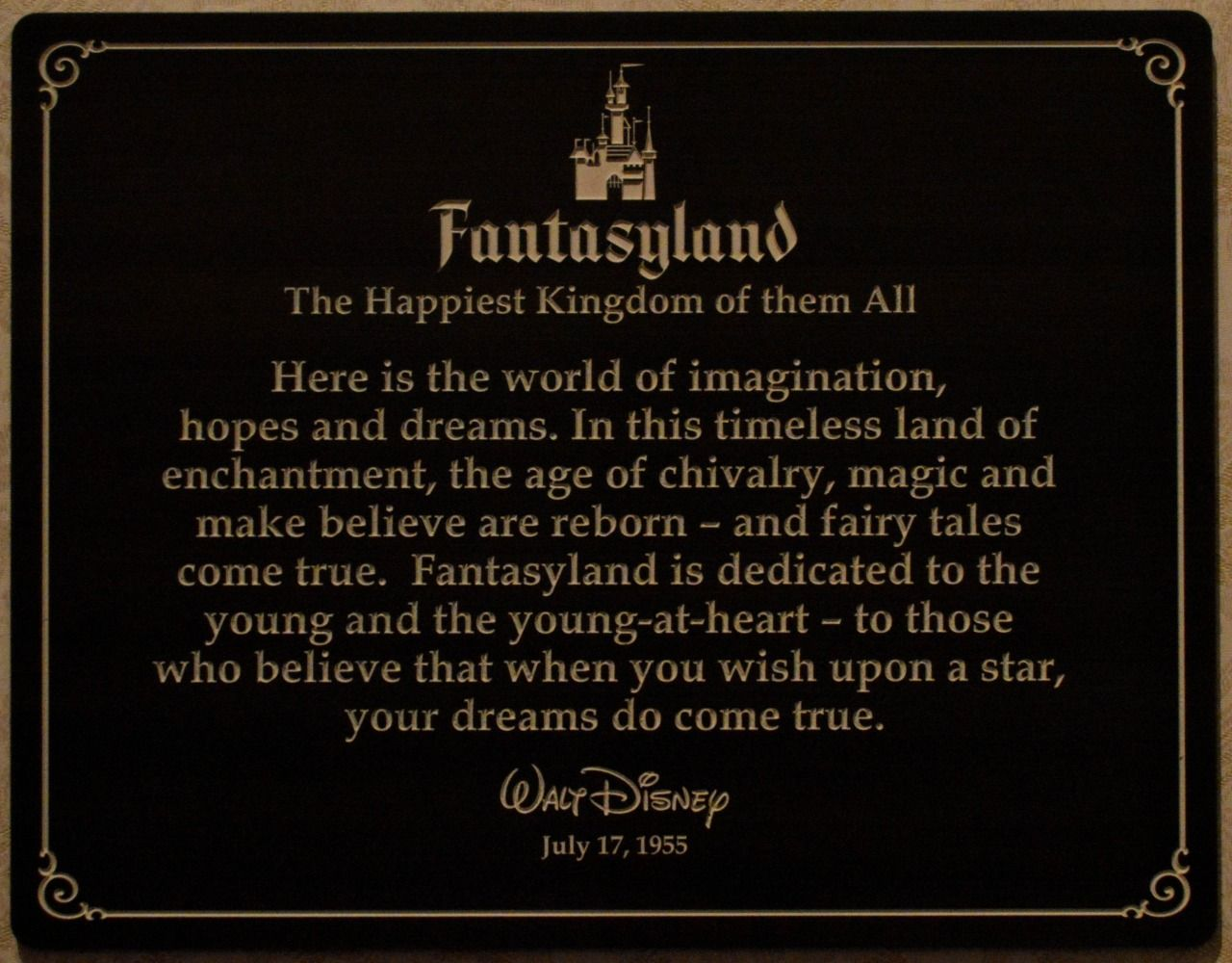 walt disney quote in disneyland