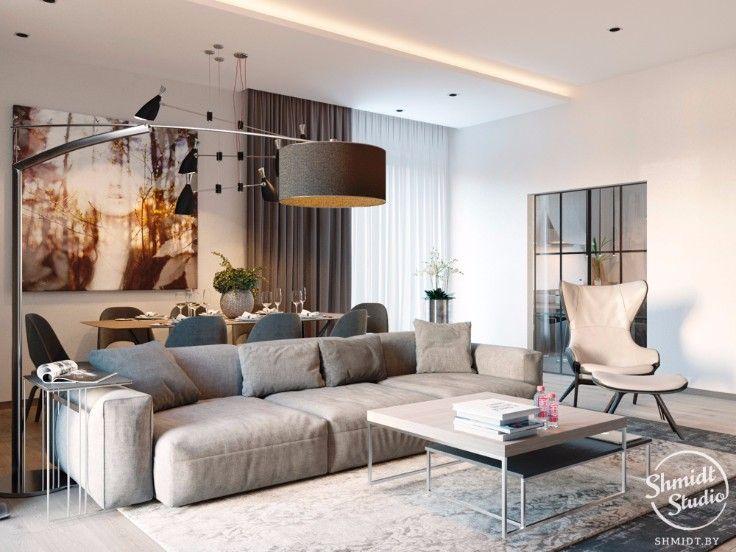 room of the week modern open plan living room in minsk interior rh pinterest co uk