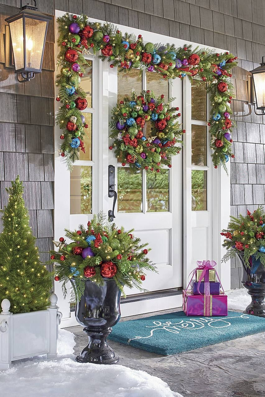 23 Easy and Cheap Christmas Front Porch Decorations That ...
