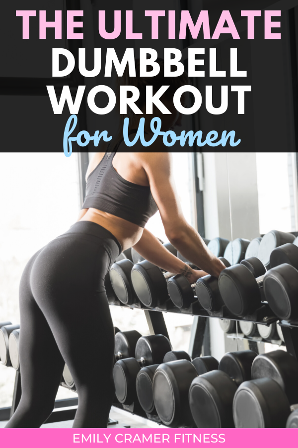 The Ultimate Dumbbell Workout for Women #dumbbellworkout This full body dumbbell workout can be perf...