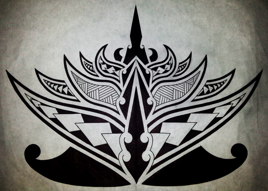 Polynesian Sharks Mouth By Cameron Rutten: Polynesian Lotus Flower By Cameron