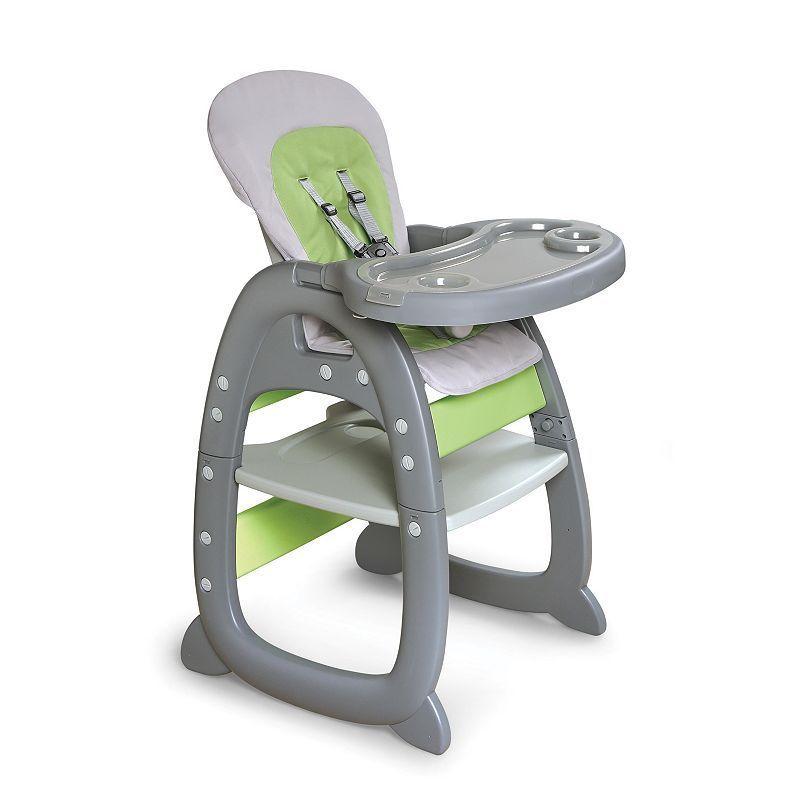 Badger Basket Envee Ii Convertible High Chair Play Table Grey