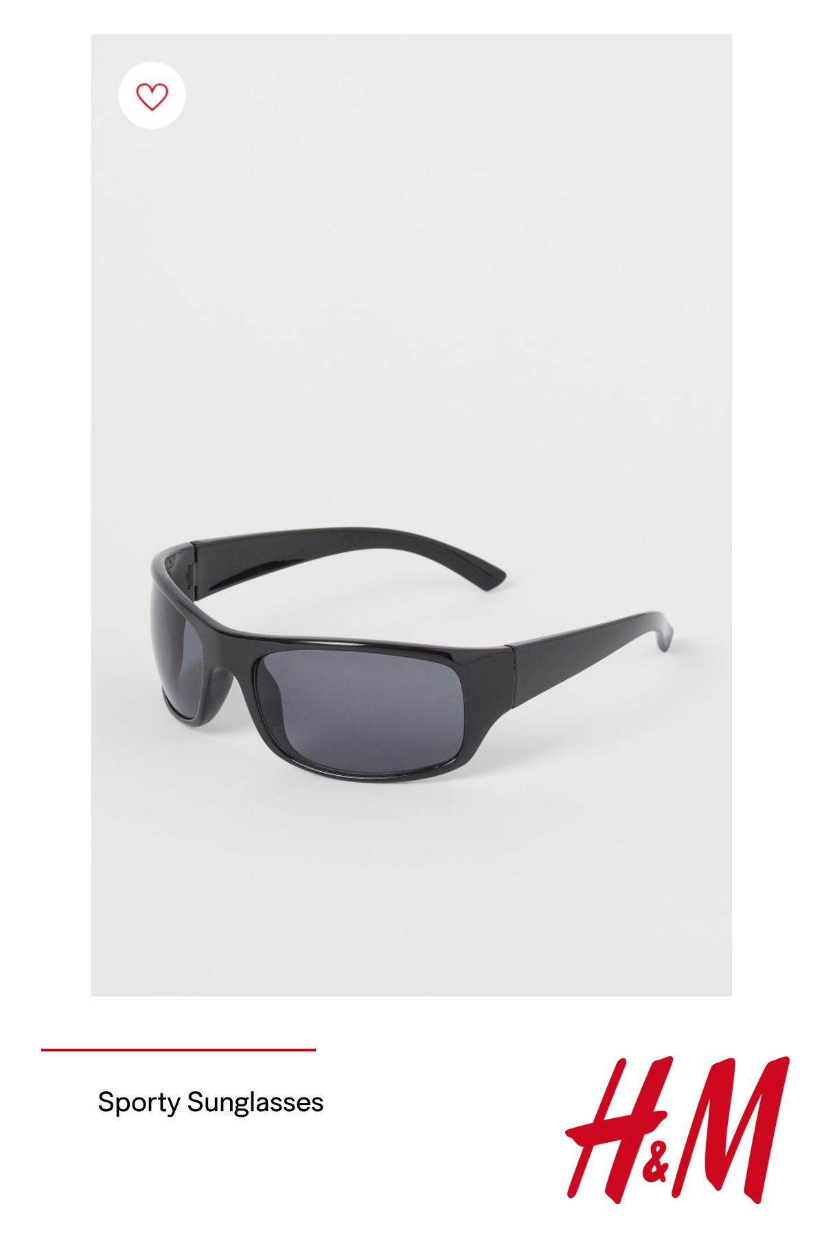 Sporty sunglasses with plastic frames and tinted  UV-protective lenses.