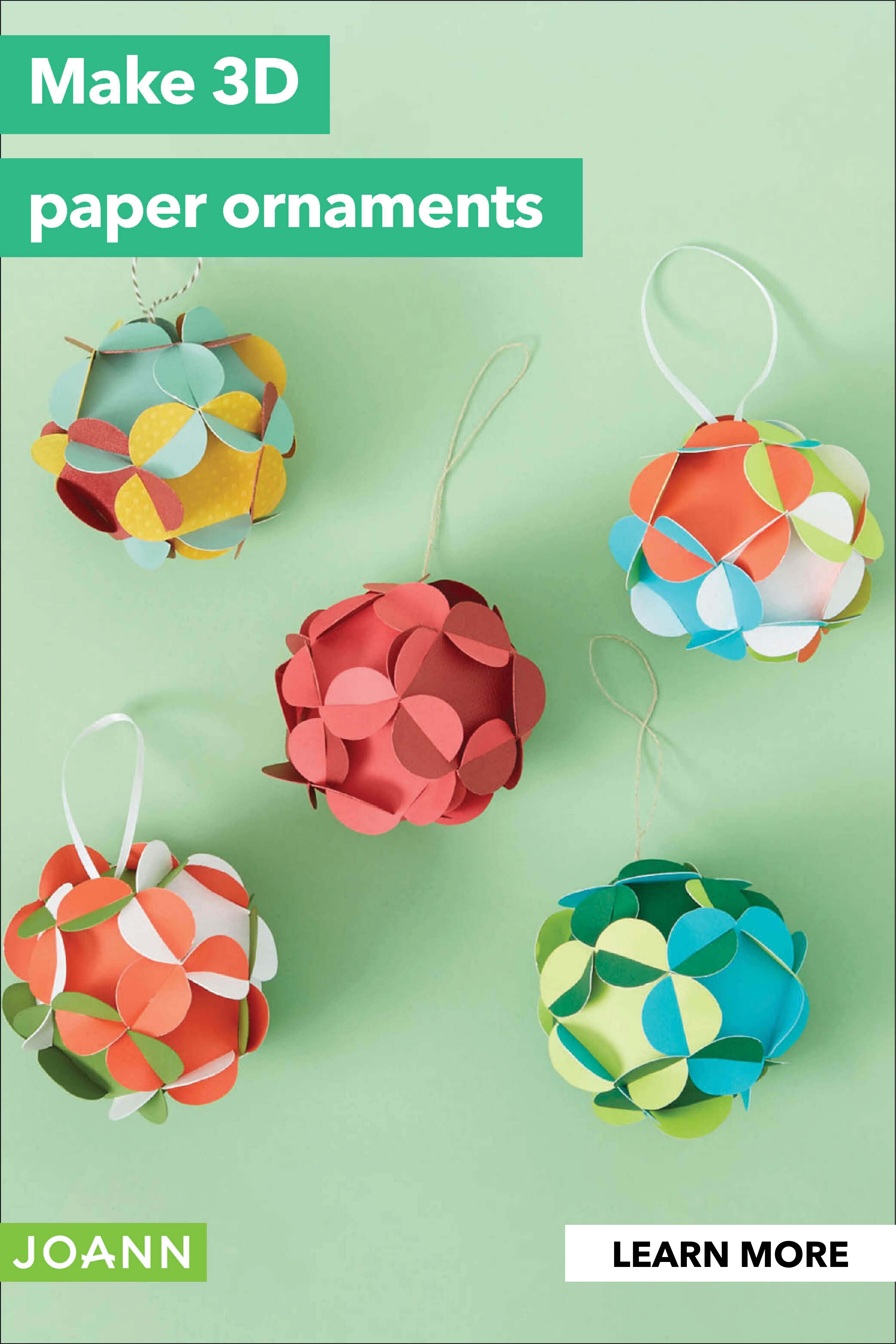 Paper Your Tree With 3d These 3d Paper Ornaments Will Dress Up Your Tree In Your Favorite C Christmas Paper Crafts Holiday Crafts Diy Christmas Tree Ornaments